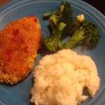 panko-parmesan chicken with orange marmalade sauce