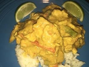 Thai Chicken Curry over Ginger Jasmine Rice