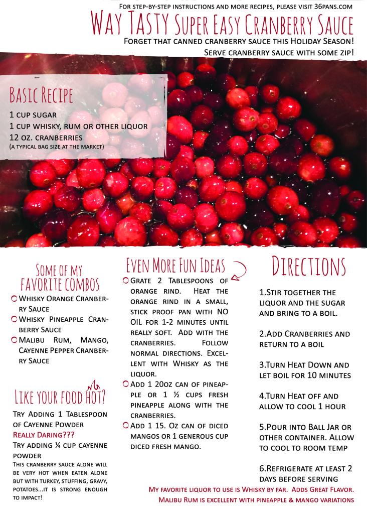 cranberry sauce recipes by Chad Currin